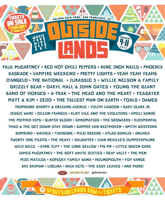 2013 Outside Lands